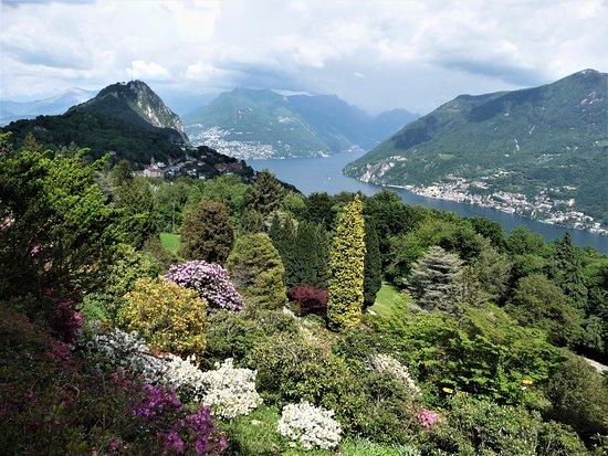 Carona, Sveits: Con vista sul lago di Lugano