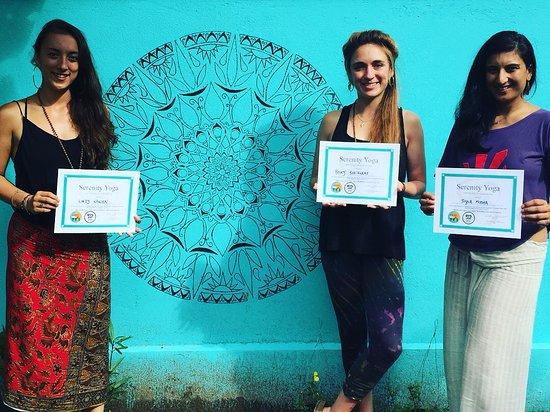 Serenity Yoga Lembongan: Our December YTT 200 Hour Graduates celebrating :) Small groups guaranteed for maximum learning!