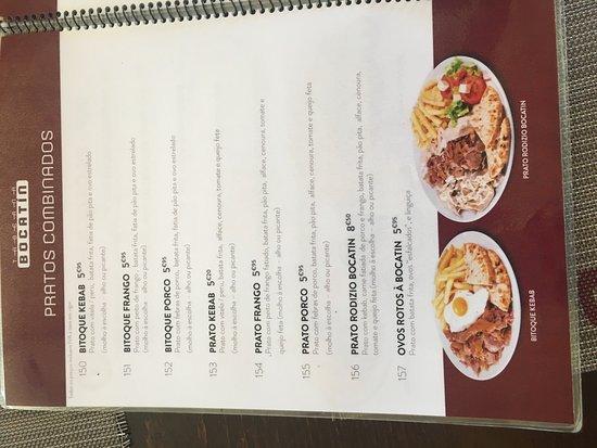 Taberna Bocatin: menu