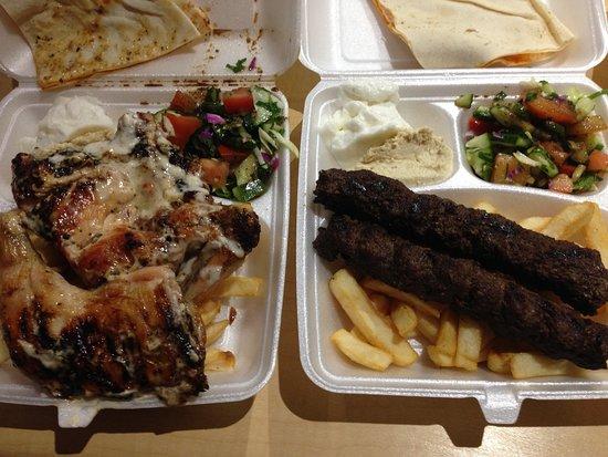 Canning Vale, ออสเตรเลีย: Half Chicken Platter and Kofta Shish Platter