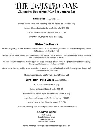 Tibshelf, UK: MENU