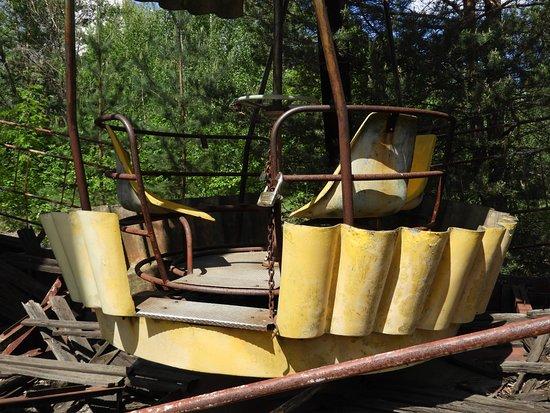 Pripyat, Ουκρανία: Passenger compartment of the ferris wheel