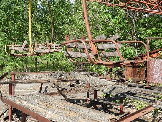 Pripyat, Ουκρανία: Rusted merry-go-round