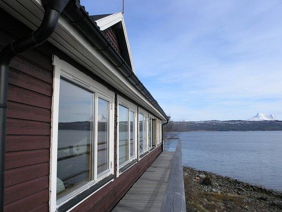 Bogen i Ofoten, Noruega: L'affaccio delle camere