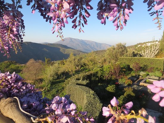 Portugos, สเปน: Great views from the garden