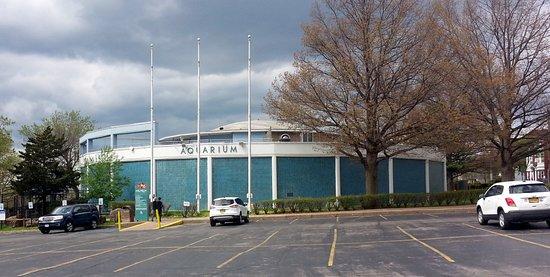 Aquarium of Niagara: a view of the aquarium from the parking lot