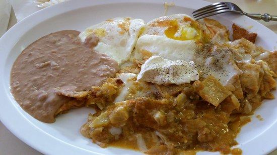 Monte Vista, CO : My Chilaquiles Breakfast, so much flavor