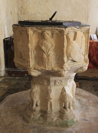 Suffolk, UK: Old font
