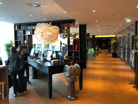 citizenM Rotterdam: the check-in area with iPads