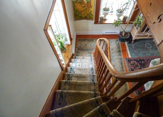 stairs at Maison Historique James Thompson
