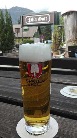 Bad Kohlgrub, ألمانيا: kleiner, netter Biergarten
