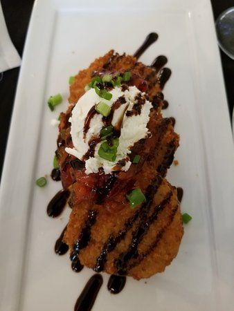 Great shrimp & grits and just as amazing Fried Green Tomatoes