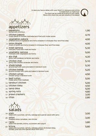 Krisna Indian Restaurant: appetizers