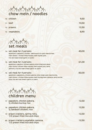 Krisna Indian Restaurant: noodles-set meals