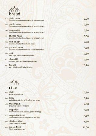 Krisna Indian Restaurant: bread & rice