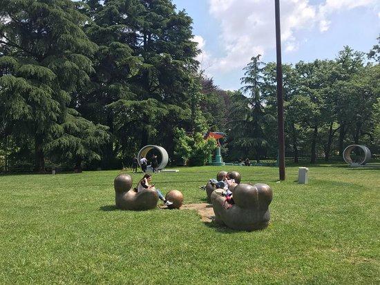 La Triennale di Milano: Artsy seating in the garden