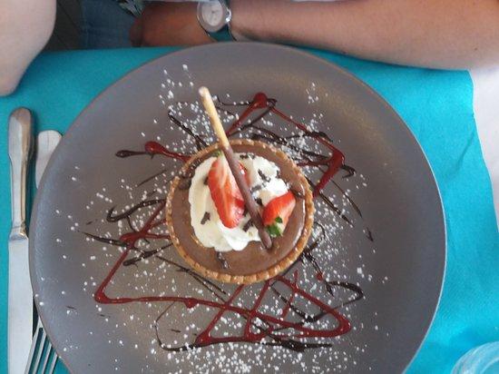 Goderville, Francia: Tarte liégeoise au chocolat
