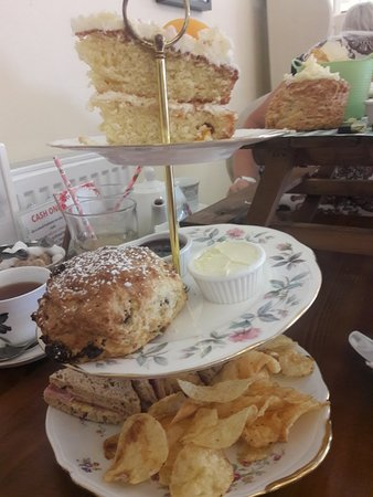 Fair Oak, UK: 19.05.18. One sweet and one savoury afternoon tea. Both utterly delicious.