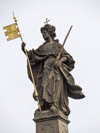 the statue on the top
