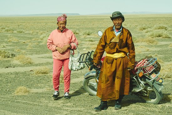 Big Mongolia Travel : Nomadic herders going to town.