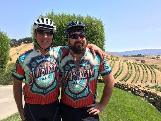 Santa Barbara Wine Country Cycling Tours: Top of the Day 2 Climb... all downhill back to Solvang