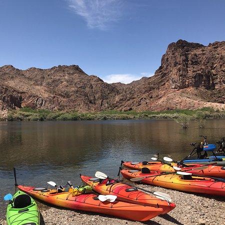 Halve dag kajaktocht in de Black Canyon vanuit Las Vegas Foto