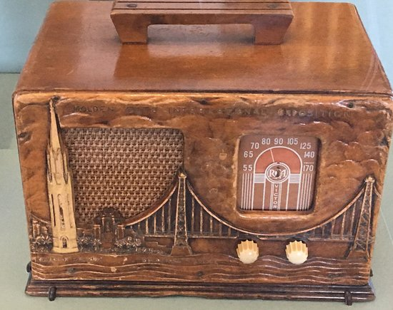 San Bruno, CA: Close-up Old Radio