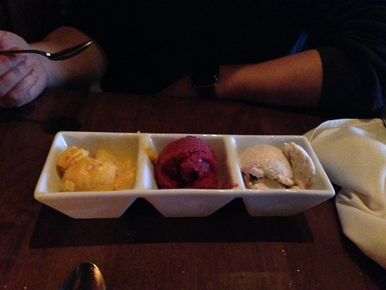 Beverly, MA: Trio of gelato/sorbet (guest's choice of flavors)