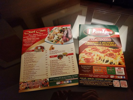 combined takeout menus picture of chef chu carrollton tripadvisor