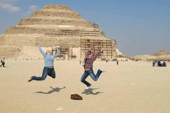 2日間のギザピラミッド、サッカラ、エジプト美術館、フェルッカセーリング、ディ…