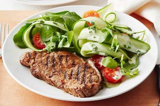 Delicious Steak and salad.