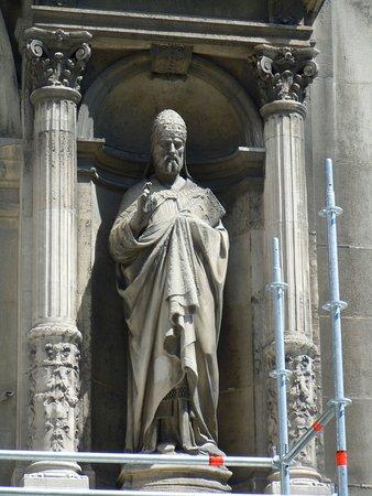 La statue de Saint-Gregoire Pape