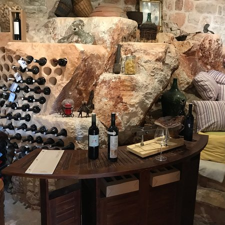Heritage Villa Apolon: The wine cellar is amazing - such an original design and use of an awkward space