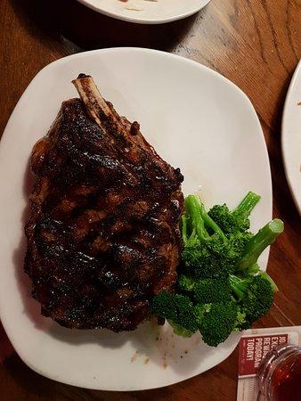 Outback Steakhouse: rib eye on the bone