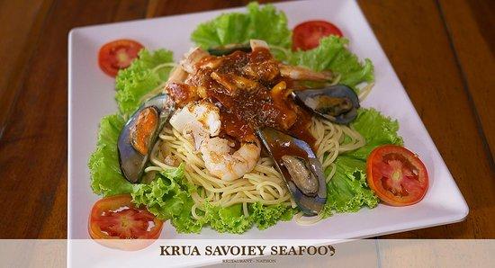 Krua Savoey Seafood Restaurant: Seafood Spaghetti