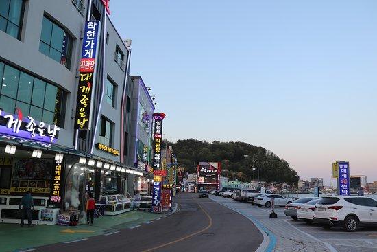 Yeongdeok-gun, Южная Корея: 江口かに通り