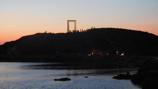 Portara Naxos by night