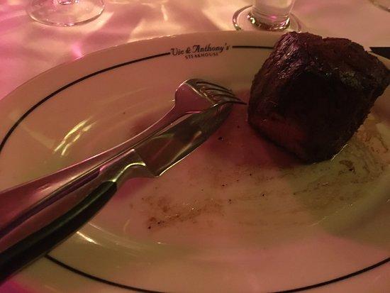 Vic & Anthony's Steakhouse: das war mal ein 500Gramm-Steak