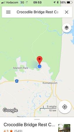Crocodile Bridge Rest Camp: localizzazione.