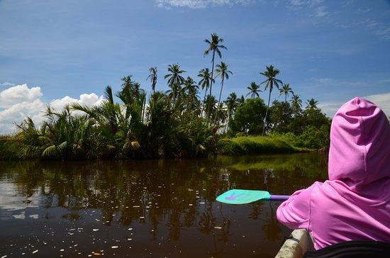 Ging Oya Lodge: Kayaking down the Ging Oya River