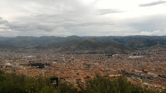 Sacsayhuamán: View of Cusco below