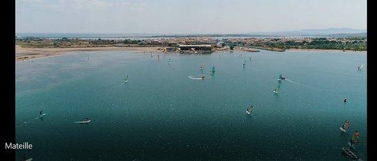 Gruissan Sailing Center: vue drone base de voile