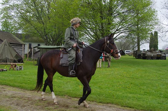 Newburg, WI: A German soldier on horse back.