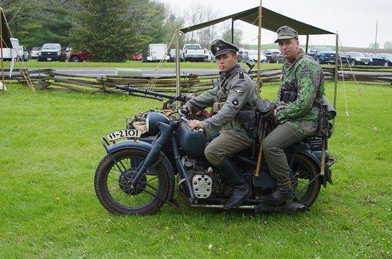 Newburg, WI: BMW motor bike.