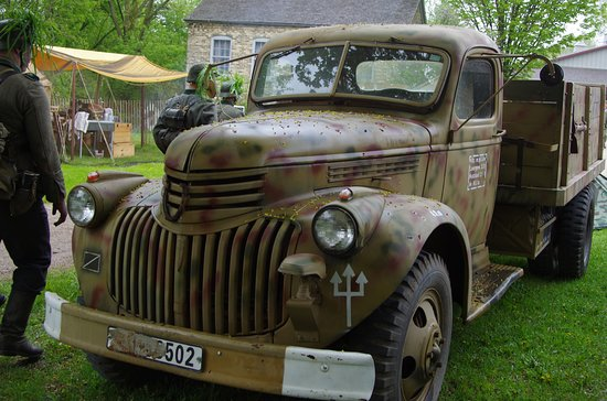 Newburg, WI: German truck used during the war.