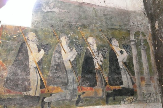 Eglise Saint Jacques le majeur et Saint Christophe: Fresque murale /1
