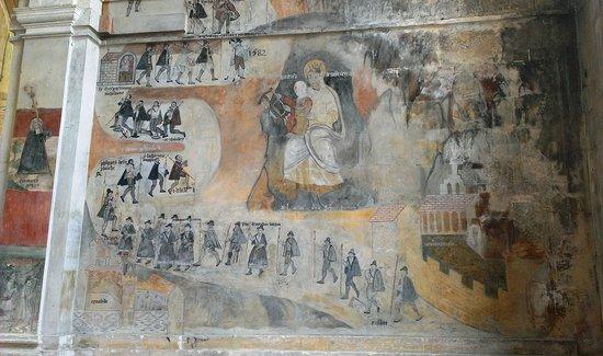 Eglise Saint Jacques le majeur et Saint Christophe: Fresque murale /2