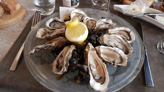 Restaurant La Cote: Les huitres