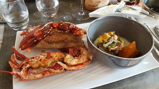 Restaurant La Cote: Menu Homard : ***************** (infinis d'étoiles )