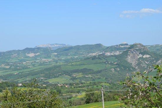 Novafeltria, إيطاليا: B&B Ca' Del Gallo - Panorama dalla cucina